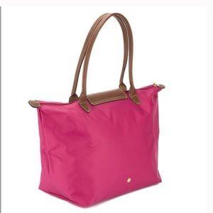 Longchamp le pliage large pink tote
